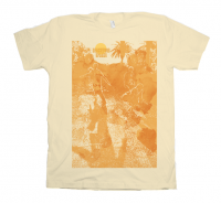 A golden Beachwood Sparks t-shirt